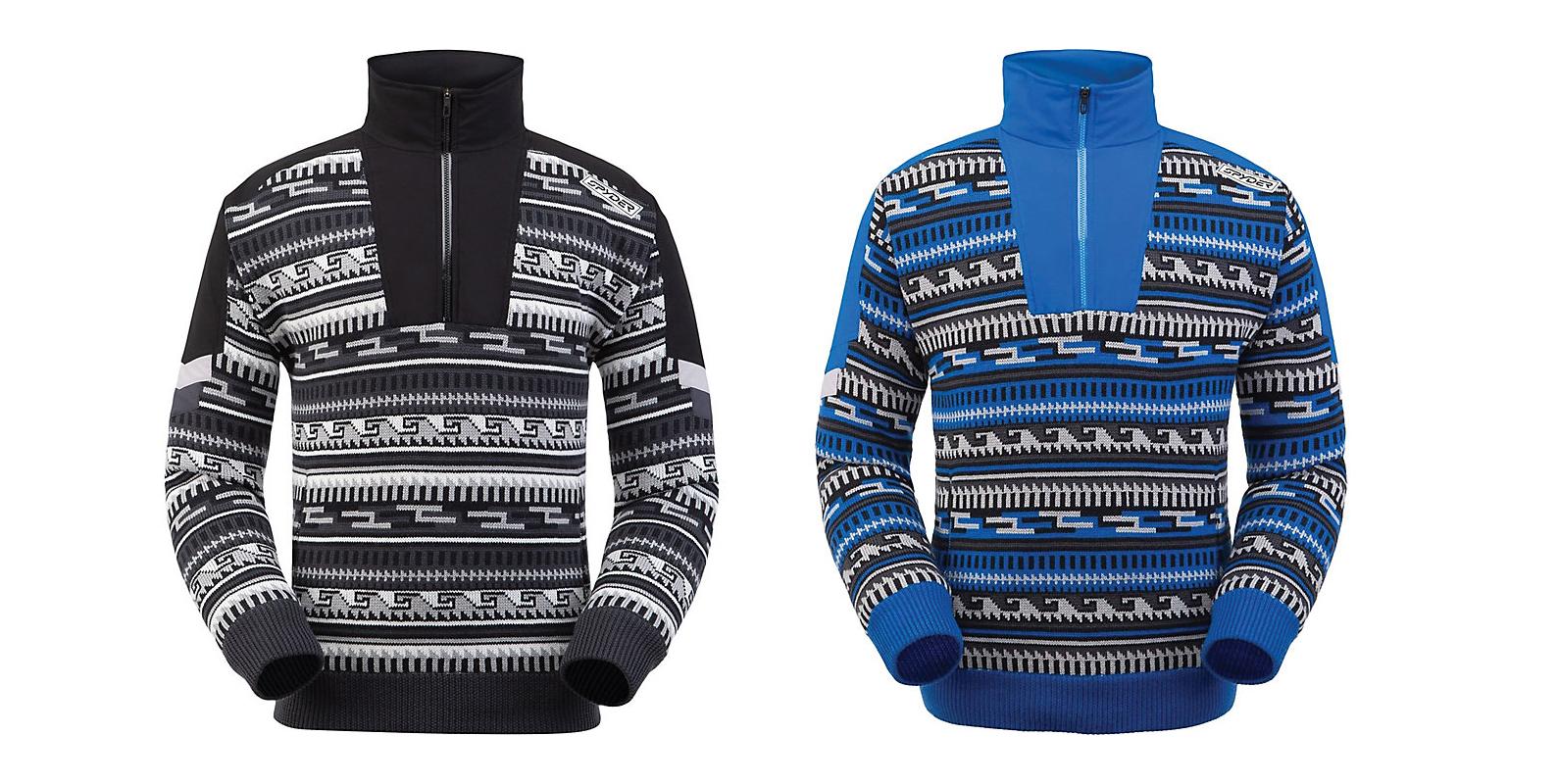 spyder legacy gtx infinium lined half zip knit sweater