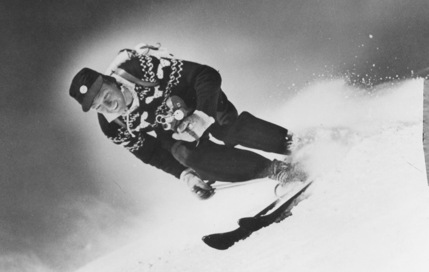 warren miller skiing in 1950s