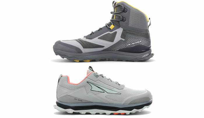 Altra Lone Peak 5 All Weather Hikers Low and Mid