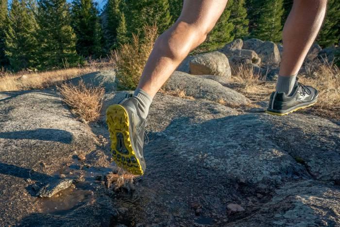 Altra Lone Peak 5 on rocks