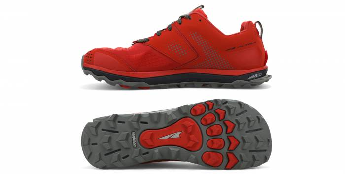 Altra Lone Peak 5 trail running shoes side and bottom view