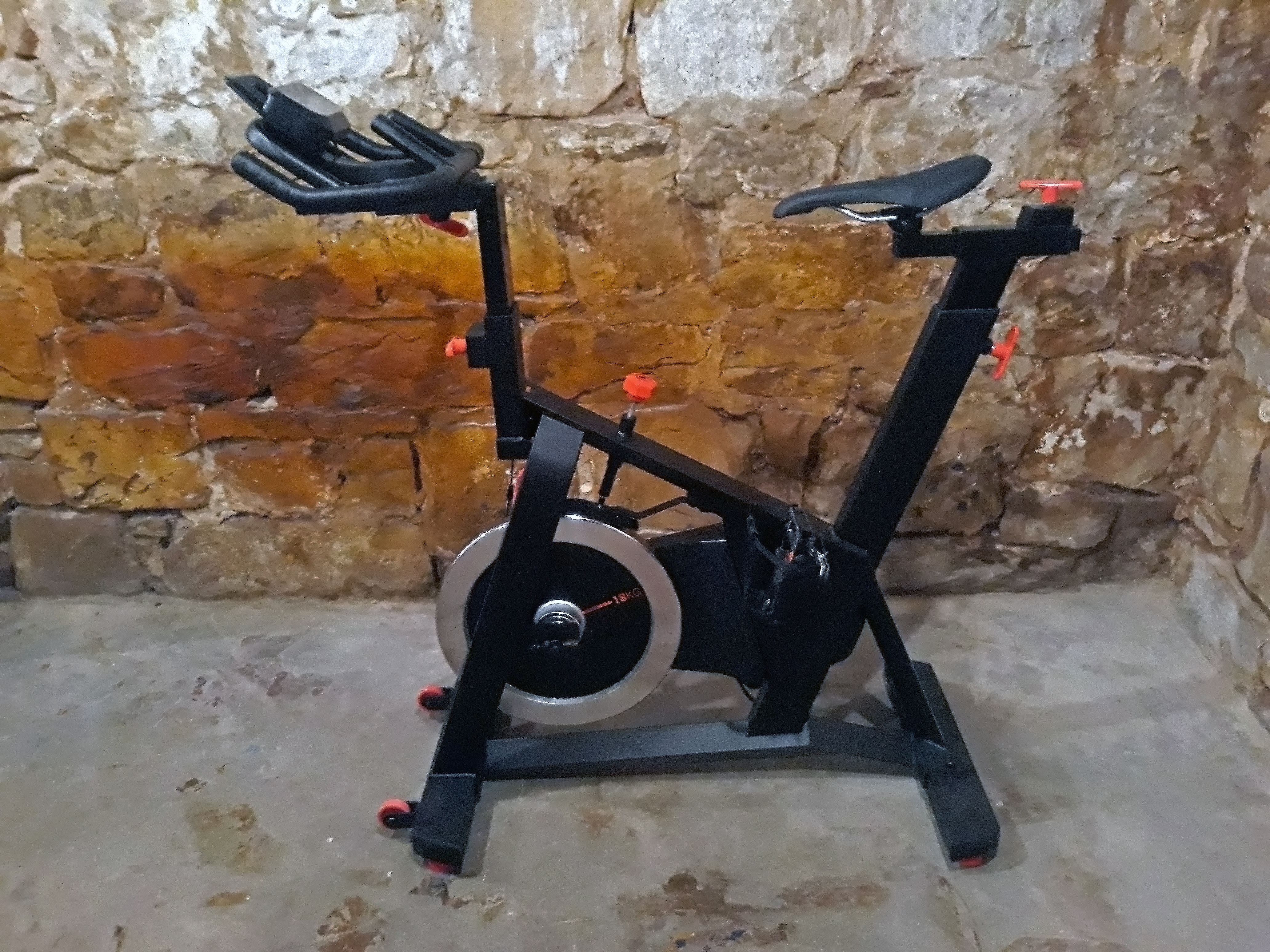 Decathlon Domyos exercise bike basement