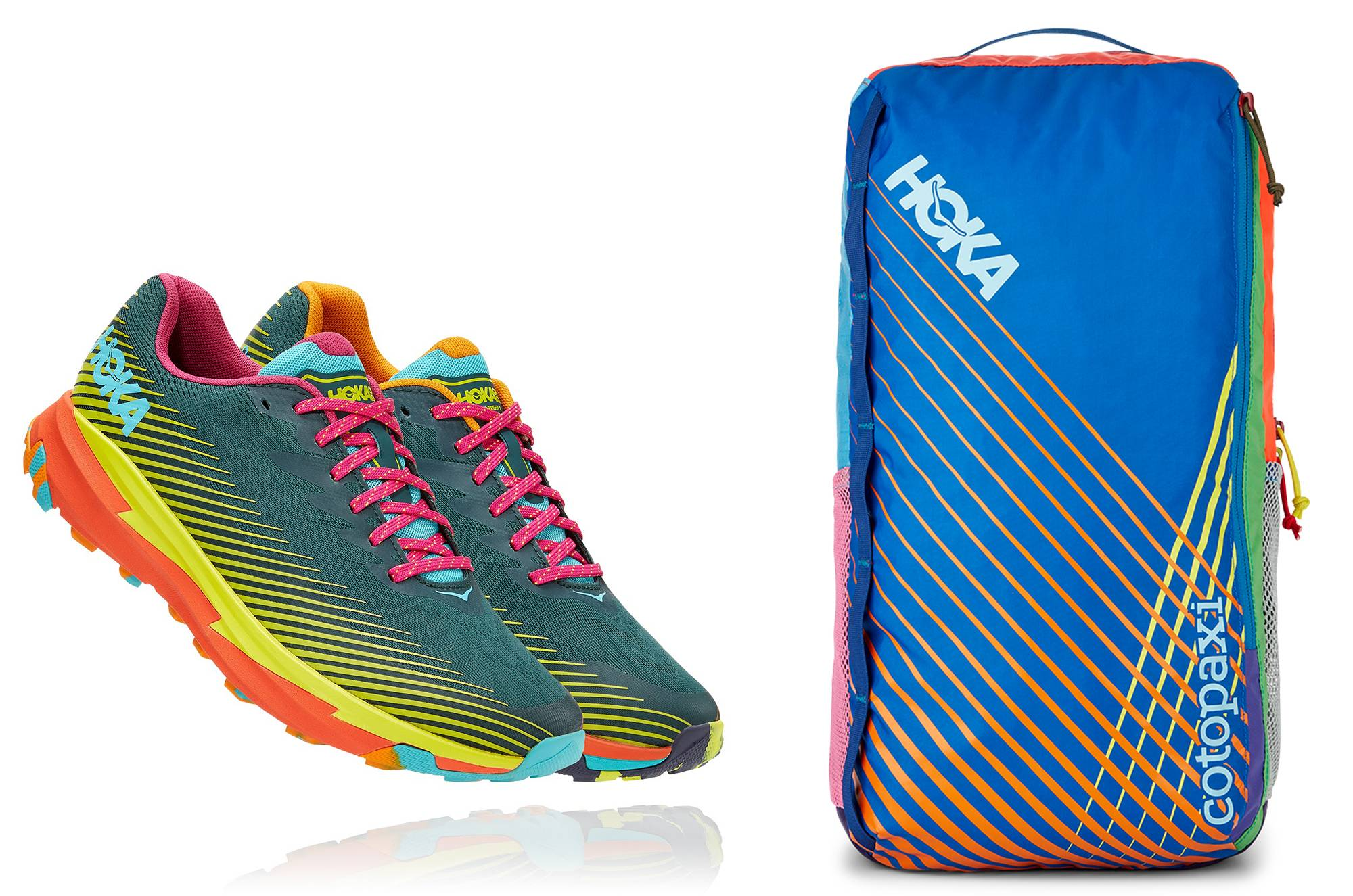 HOKA x Cotopaxi Torrent and Del Dia Backpack