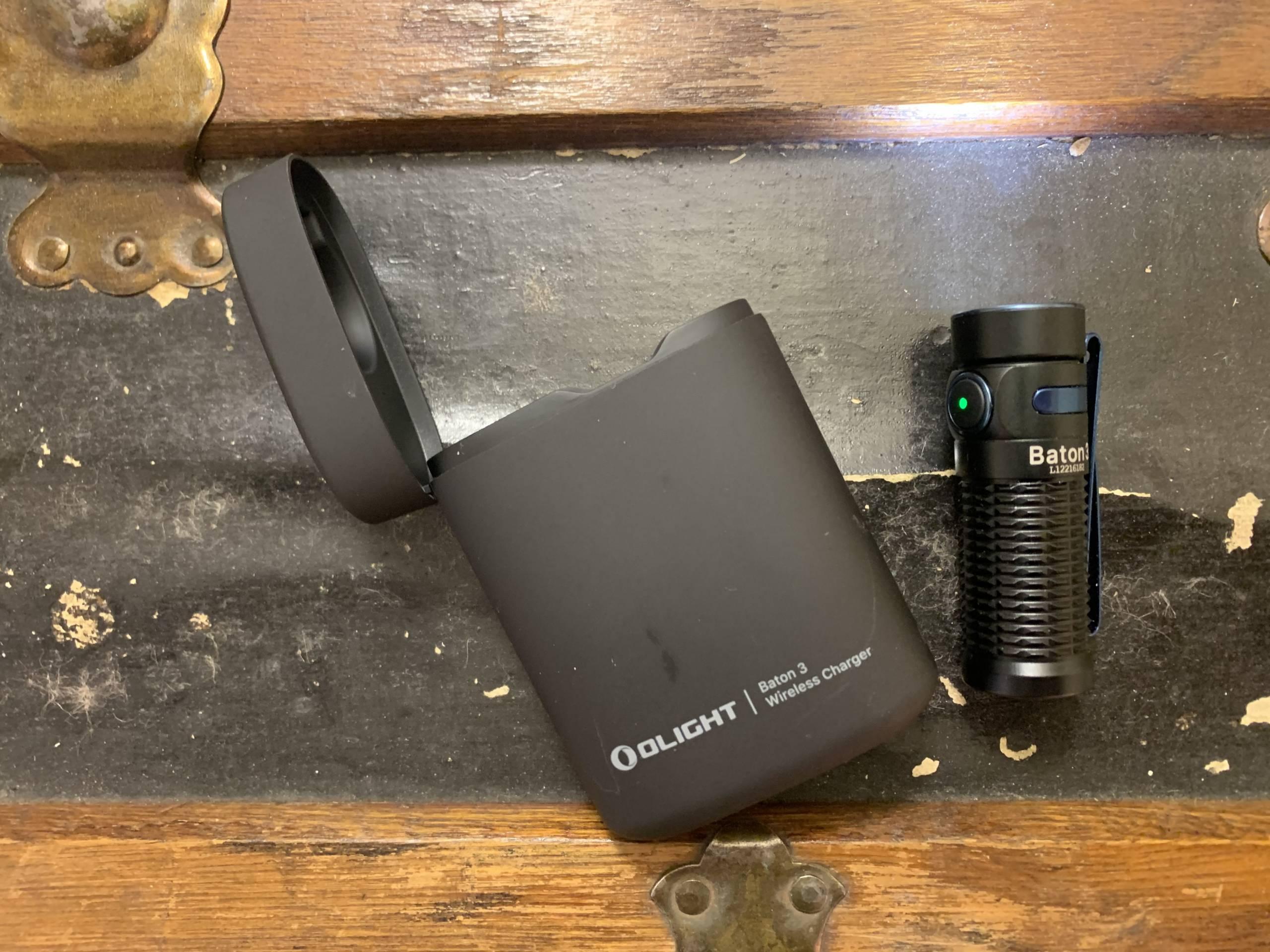 Olight Baton 3 with charging case