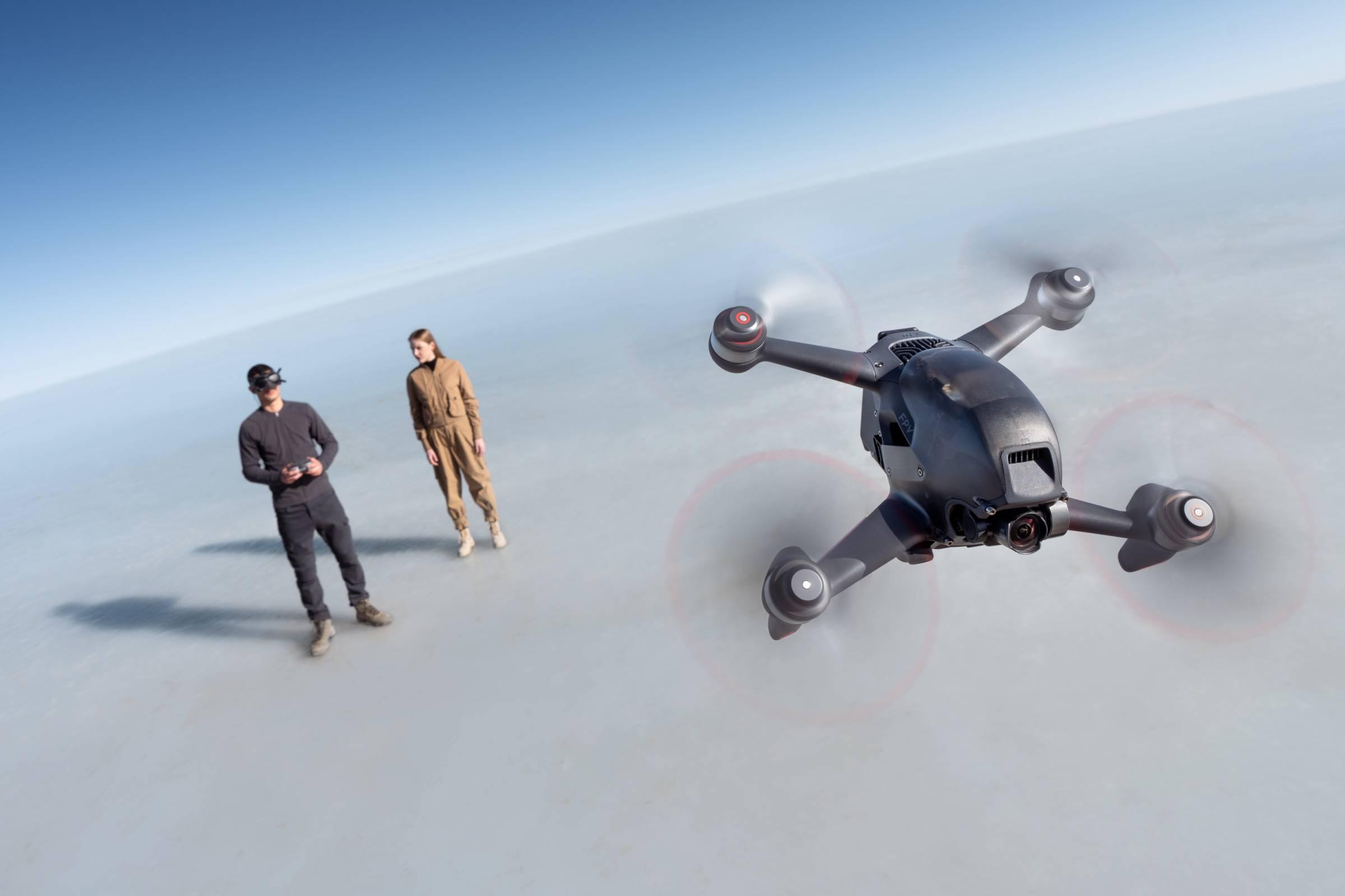 DJI FPV Drone and people