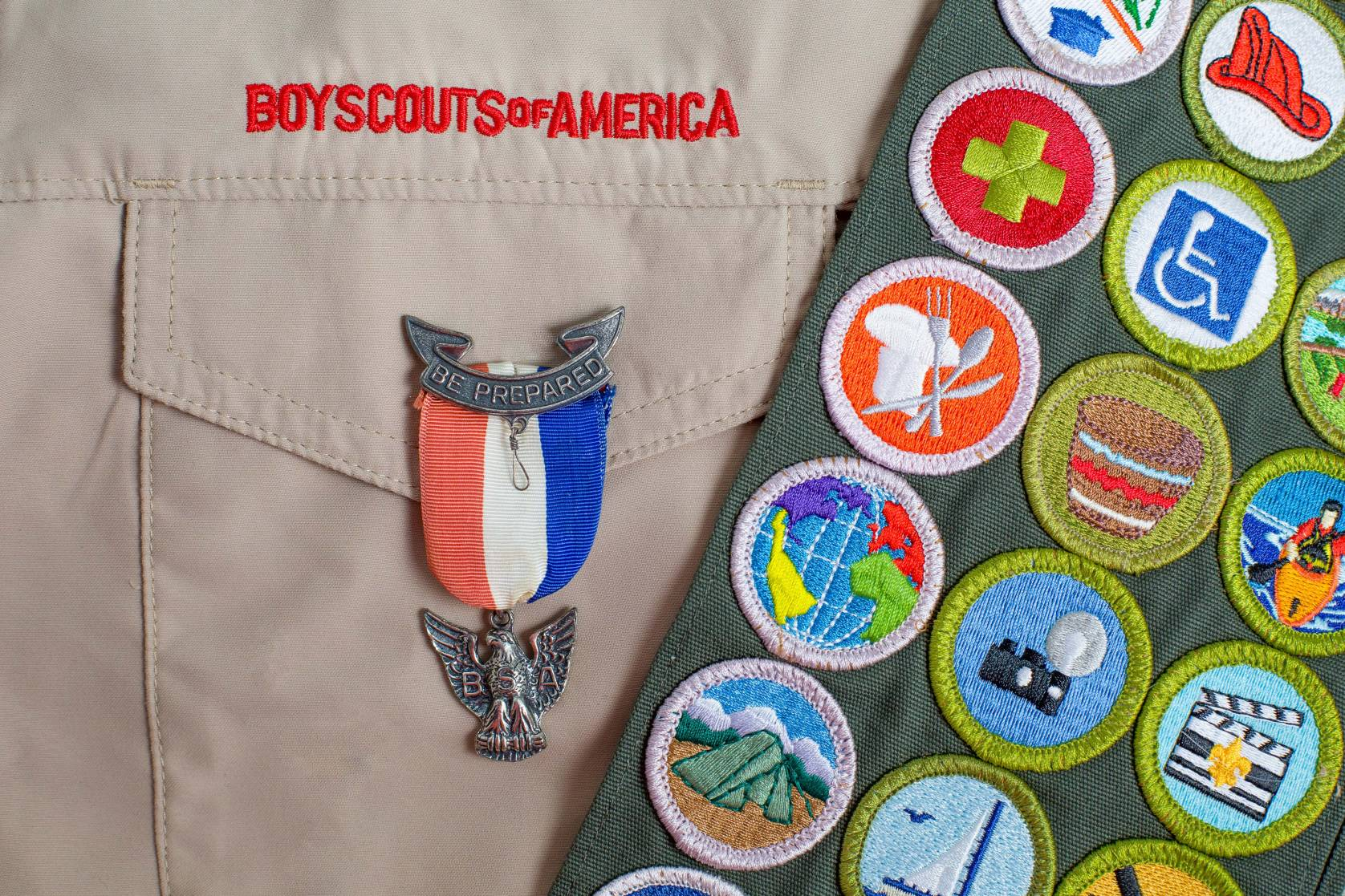 boy scouts, eagle scout pin
