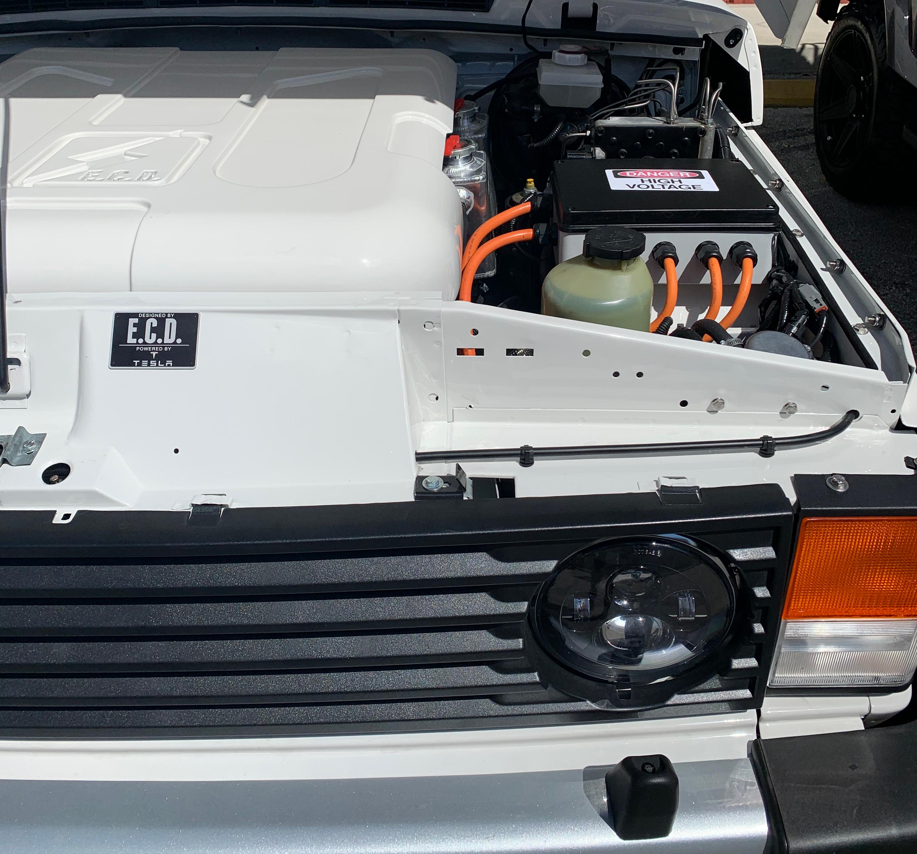 E.C.D. Tesla electric Range Rover