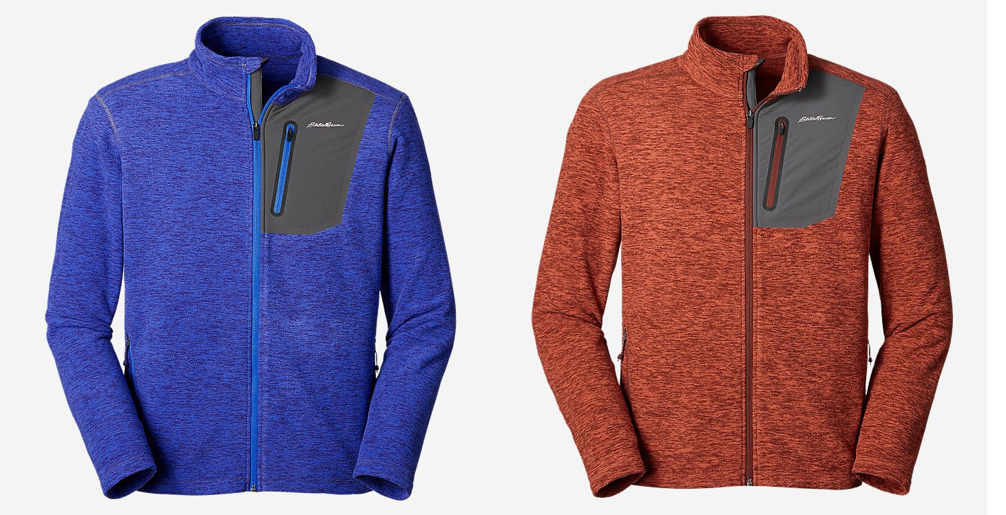 eddie bauer cloud layer full zip