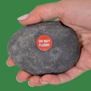 FluidMaster Emergency Wiping Rock