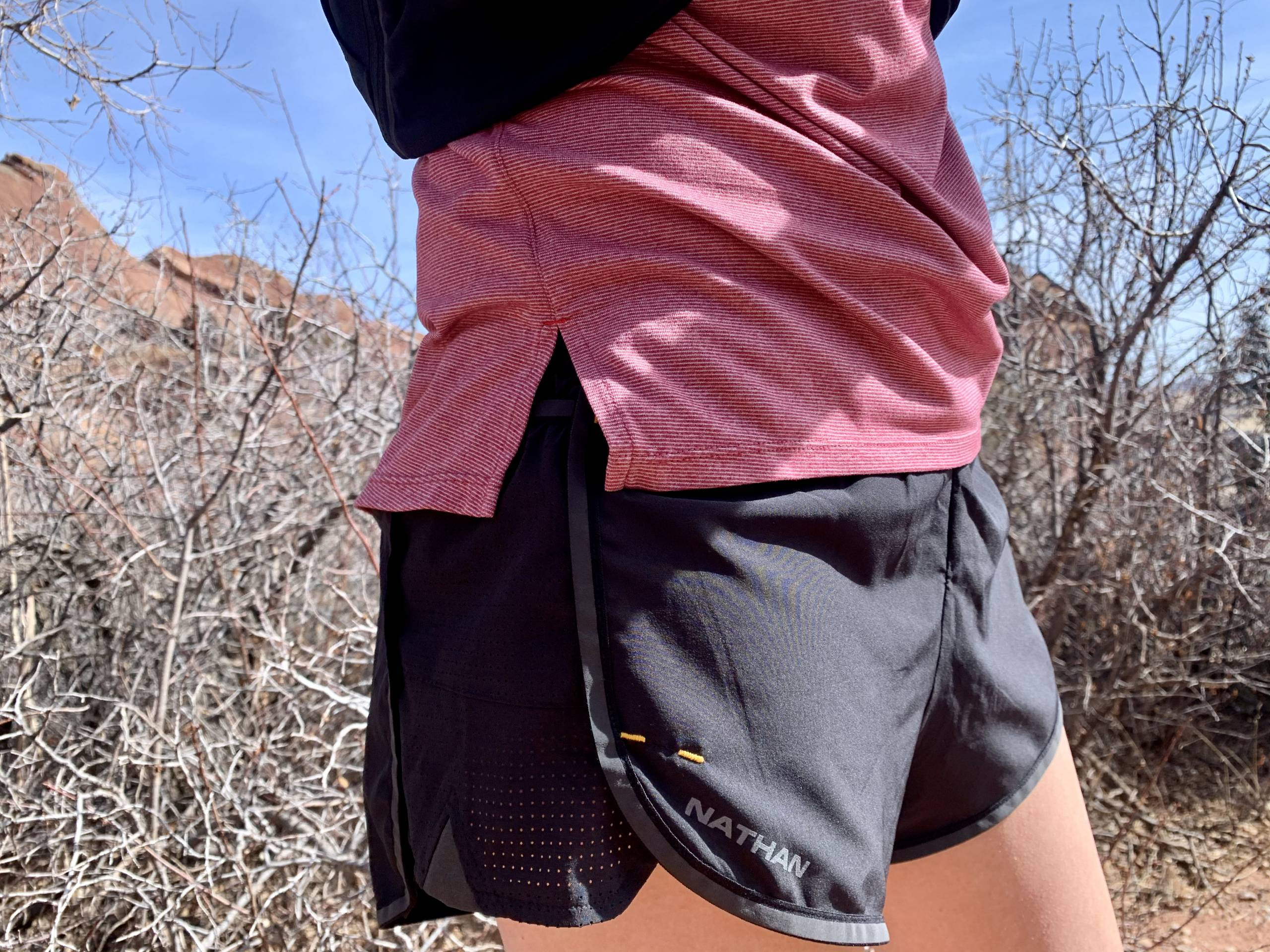 close-up view of the Nathan essential shorts