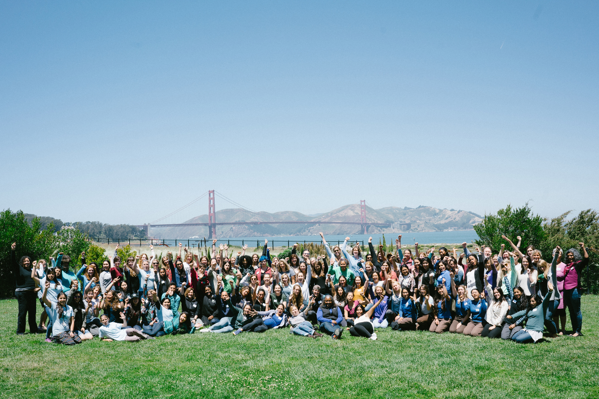 Women's Outdoor Summit group photo, 2017