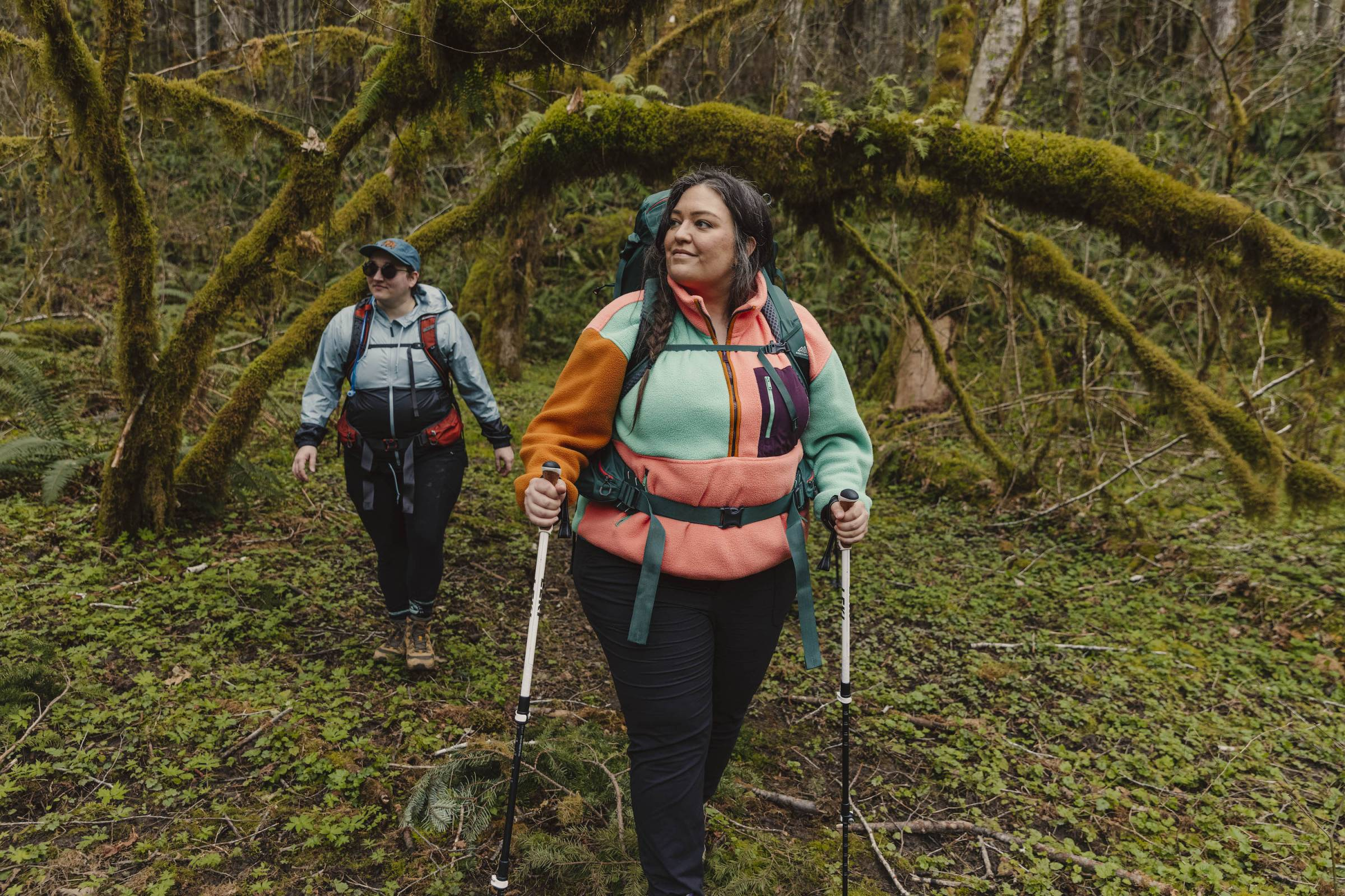 """Jenny Bruso with her """"Unlikely Hikers"""" group hiking in Oregon"""