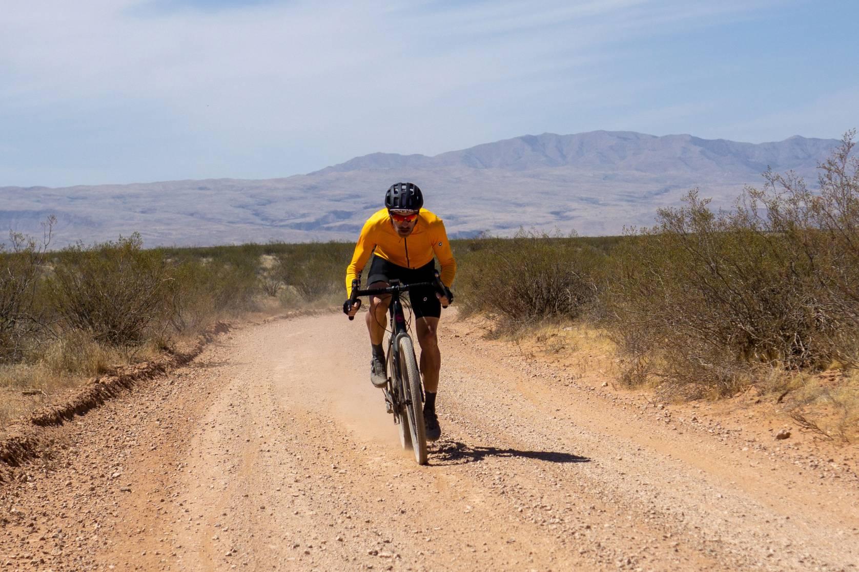 man on Kana Libre bike