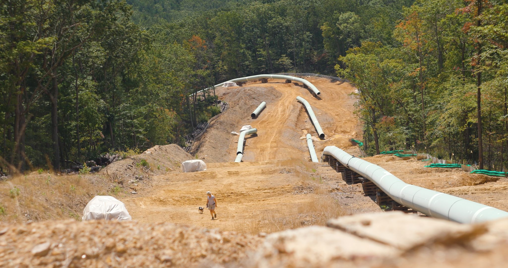 segments of a pipeline in Montgomery County, WV