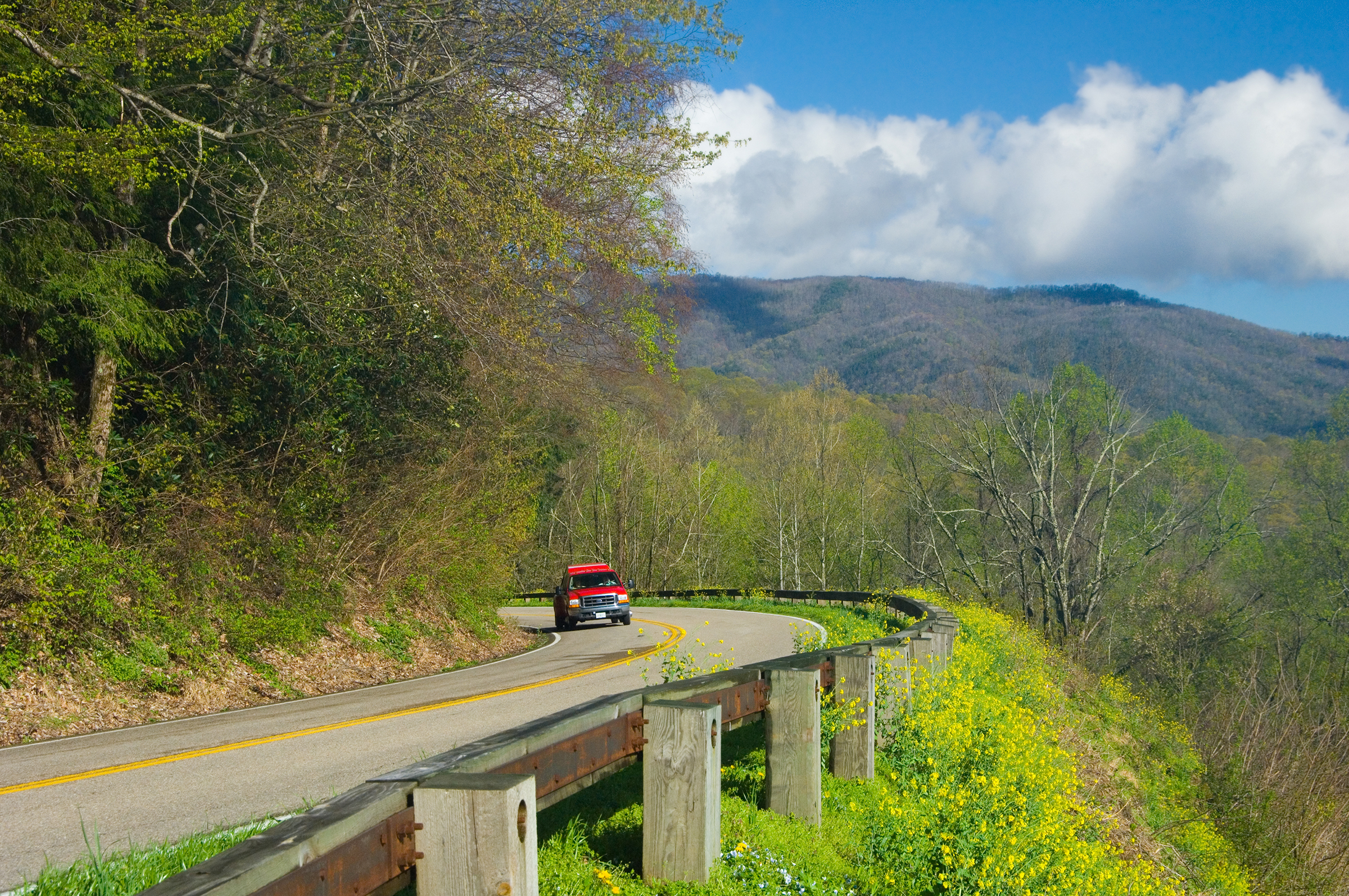 Newly found Gap Highway in Great Smoky Mountains National Park, Tennessee