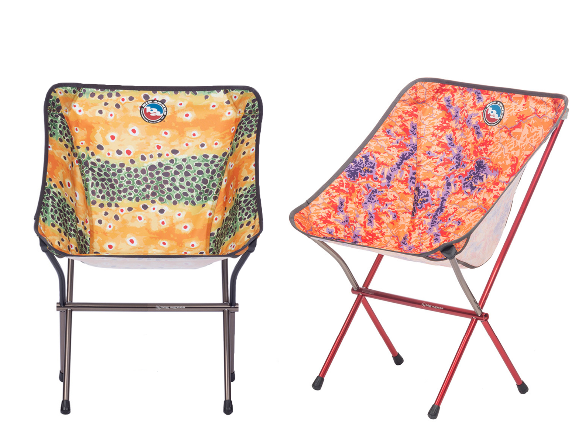two nature prints of the big agnes mica camp chairs