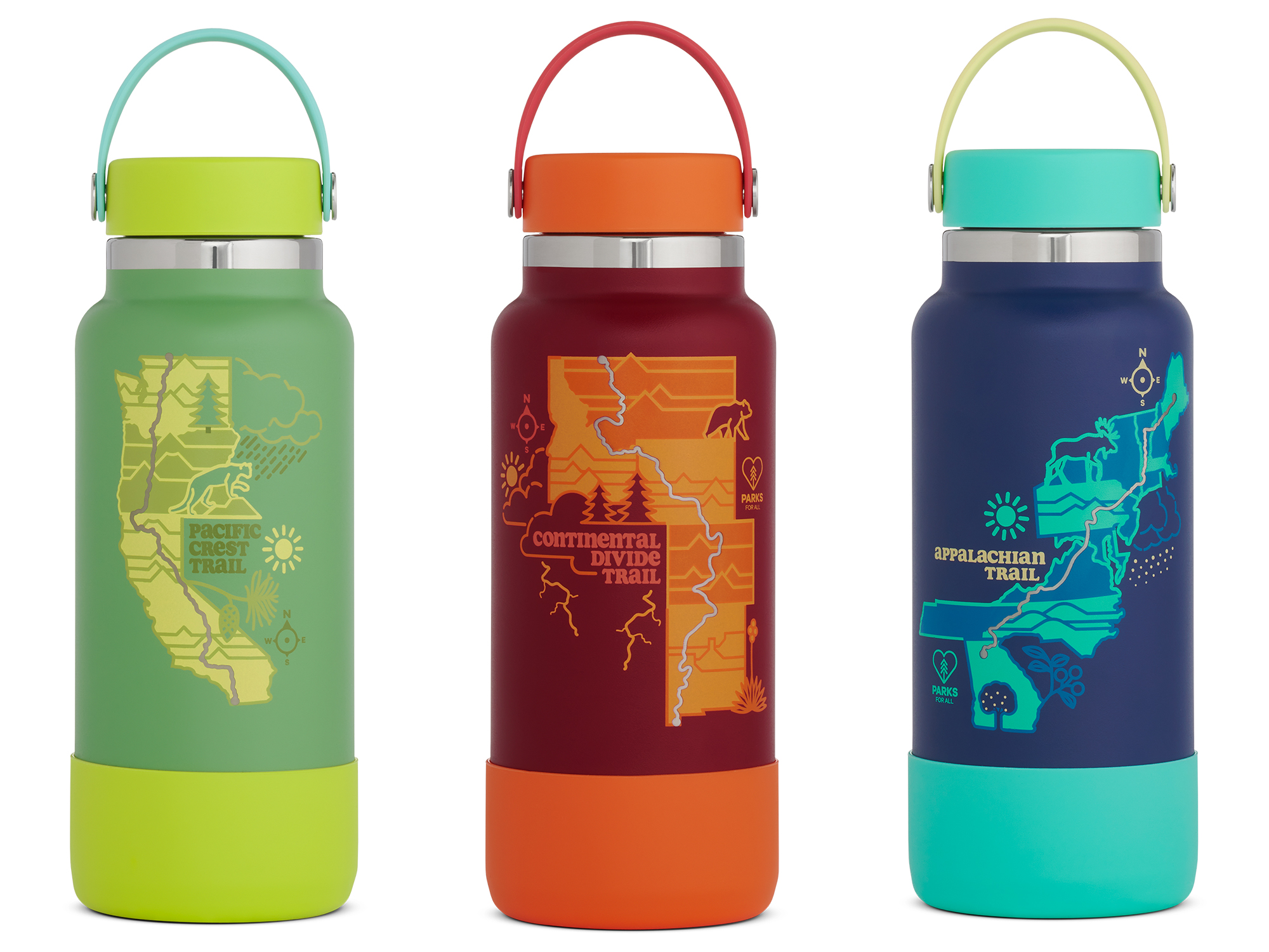hydro flask AT, PCT, and CDT trail bottles