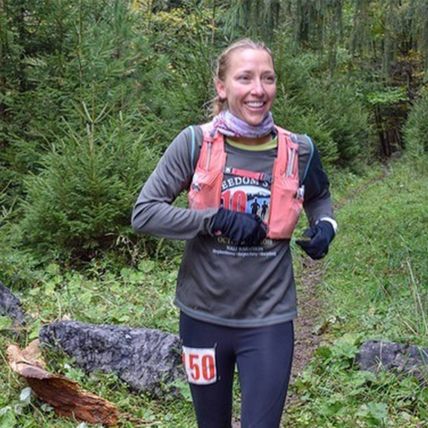 katie thompson running trail race in WV