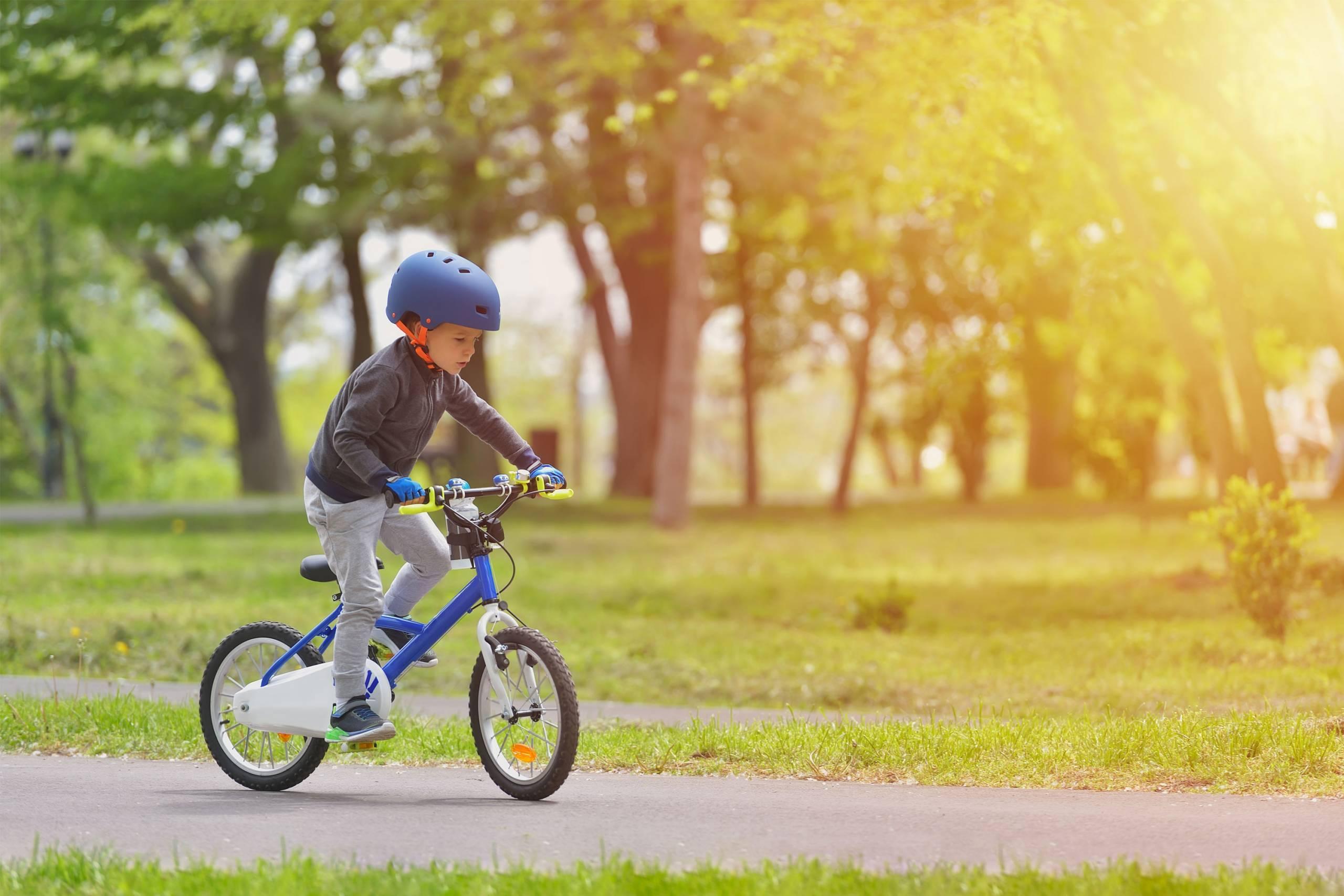 Child riding a pedal bike