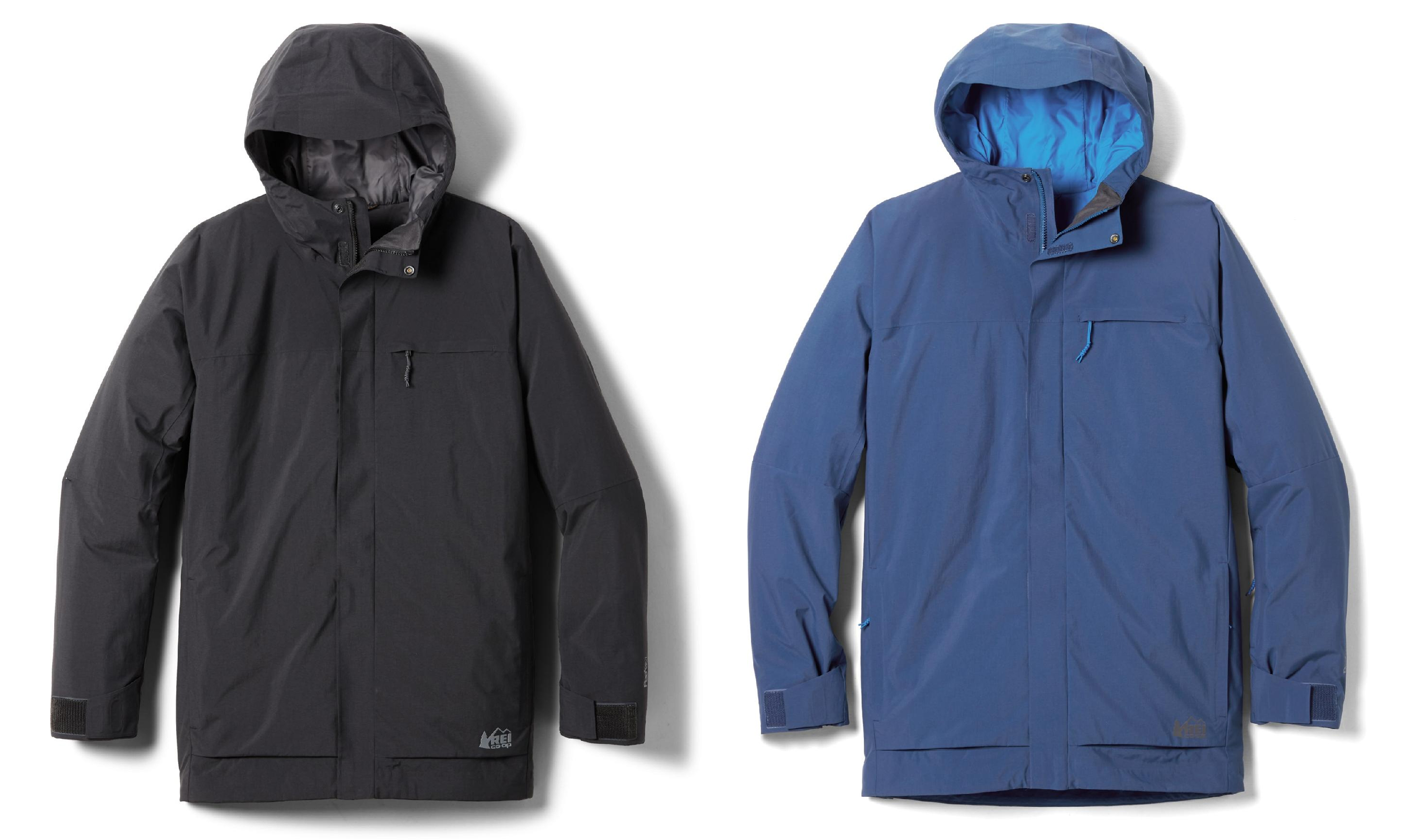 mens ski jacket: rei co-op powderbound insulated jacket