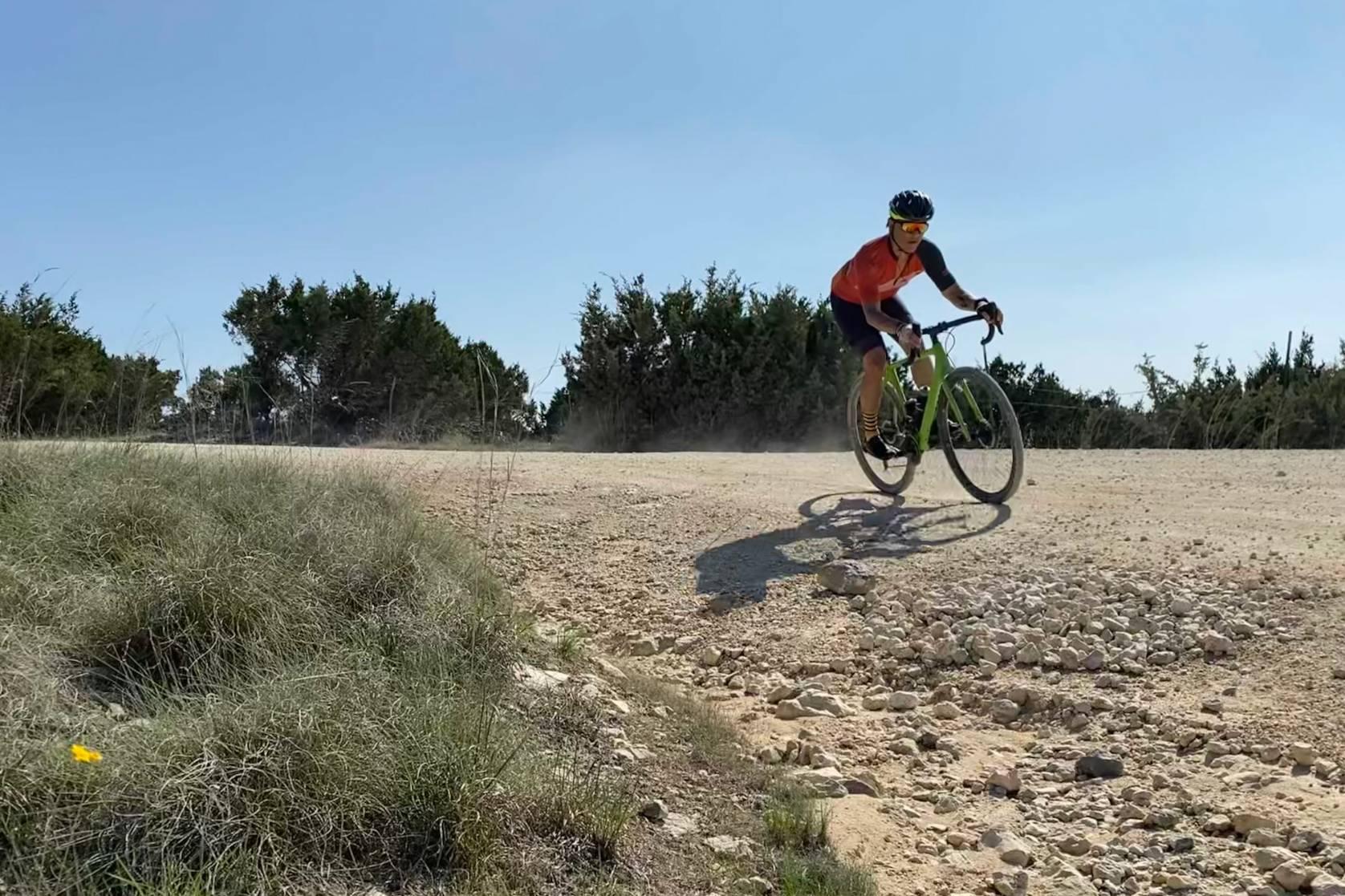 gravel bike testing SRAM Rival eTap AXS shifting