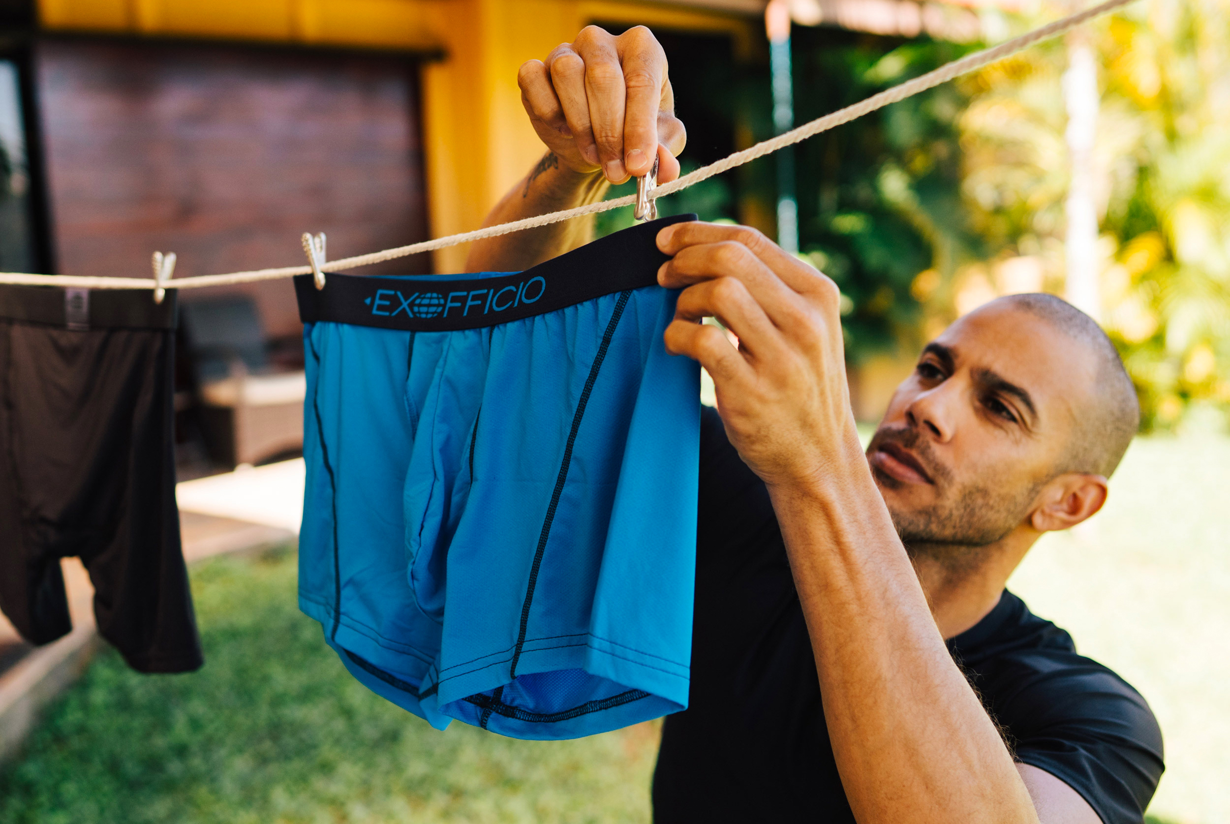 ExOfficio Give-n-Go Boxers on a clothes line
