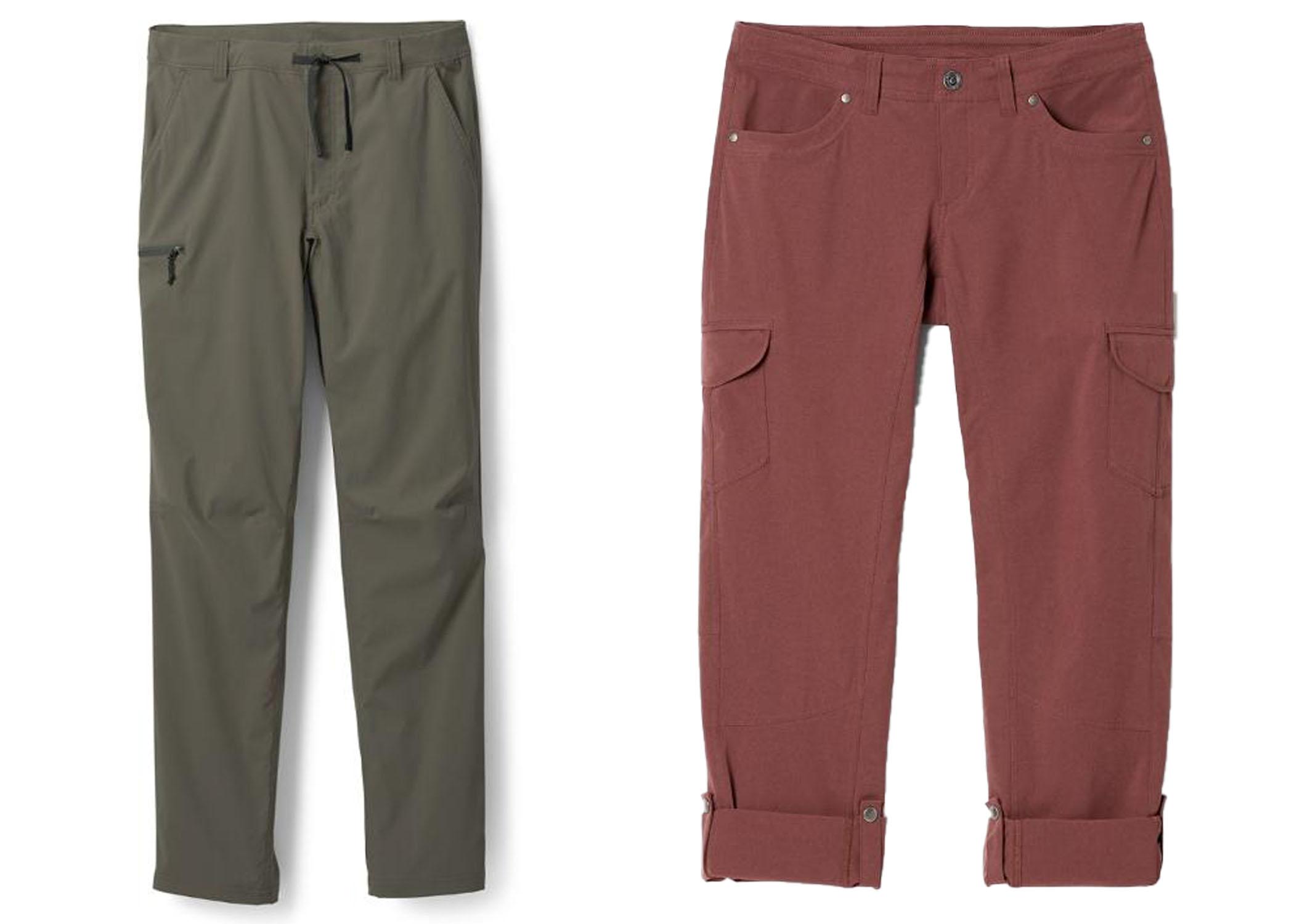 KUHL Roll up women's hiking Pants and REI Sahara Path Men's Hiking Pants