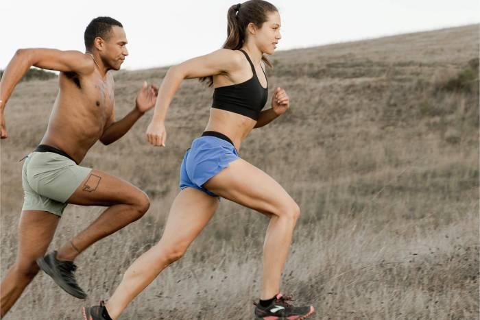 Janji Apparel Sale runners on hill