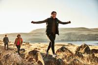 Caminante de velocidad Merrell Moab sobre rocas