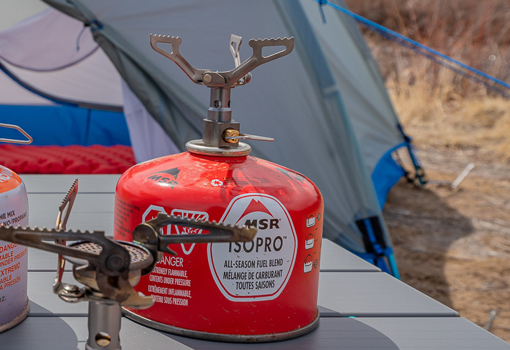 BRS3000T backpacking stove close up