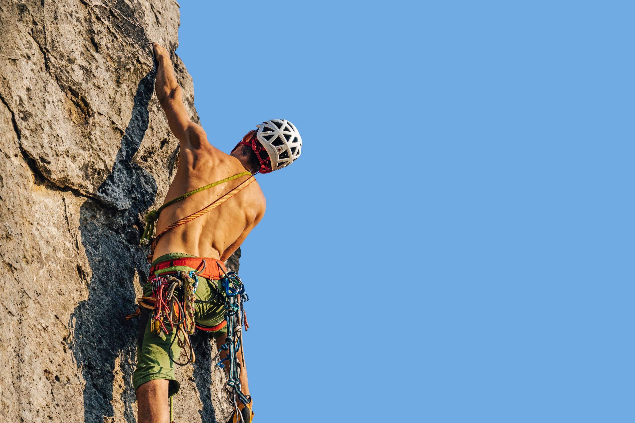 Climber on Sandstone