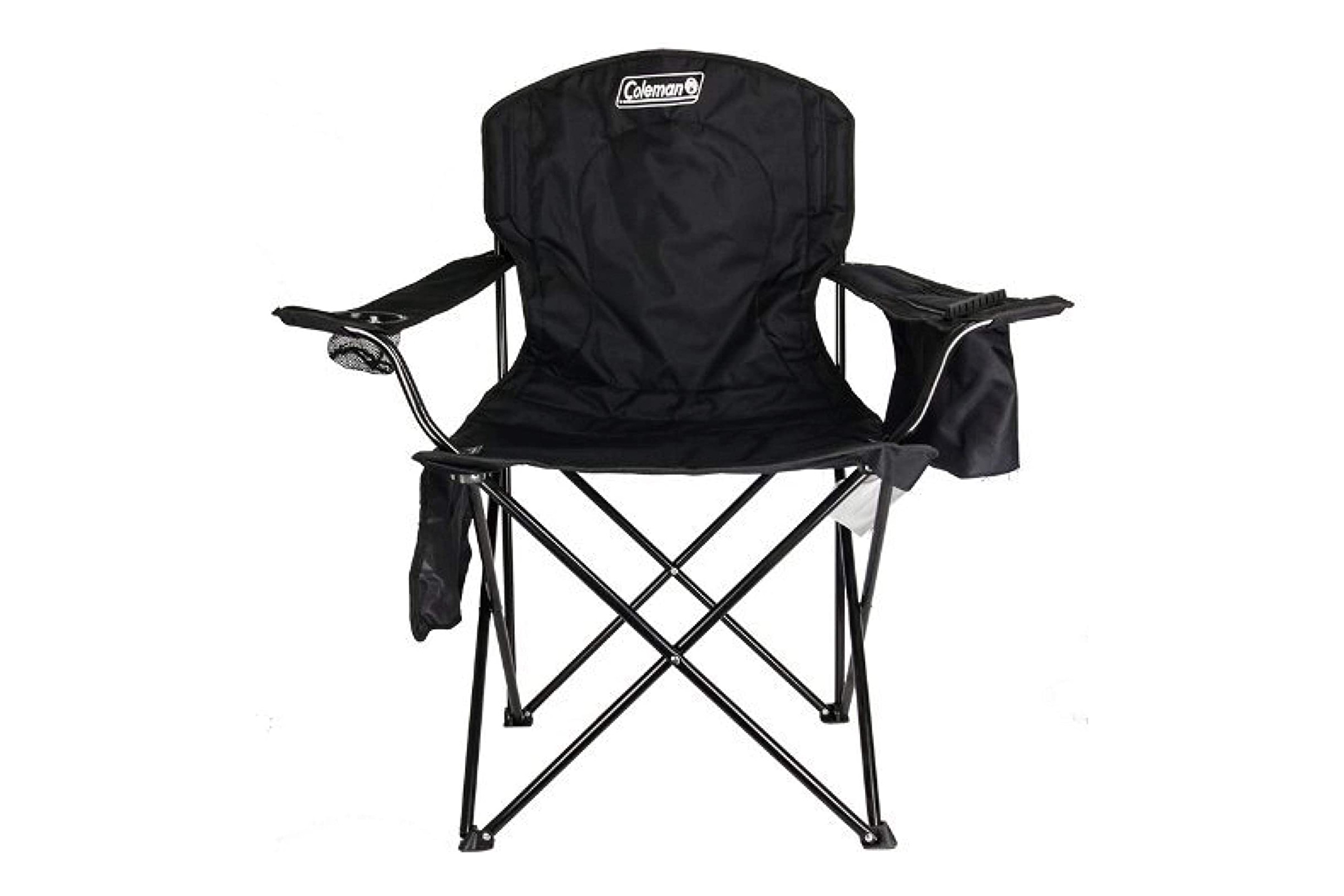 coleman portable quad chair with cooler