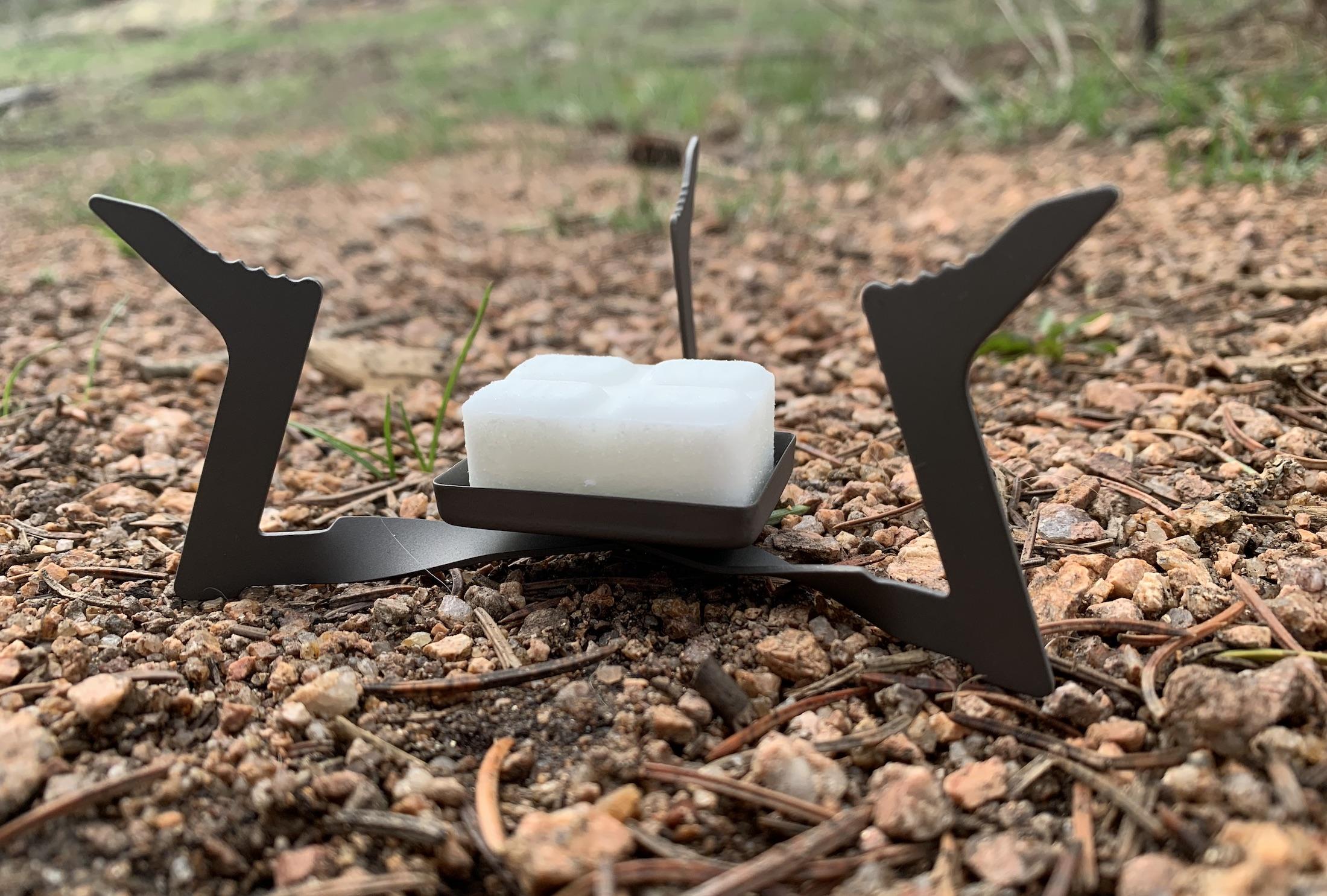 esbit titanium stove with solid fuel cube