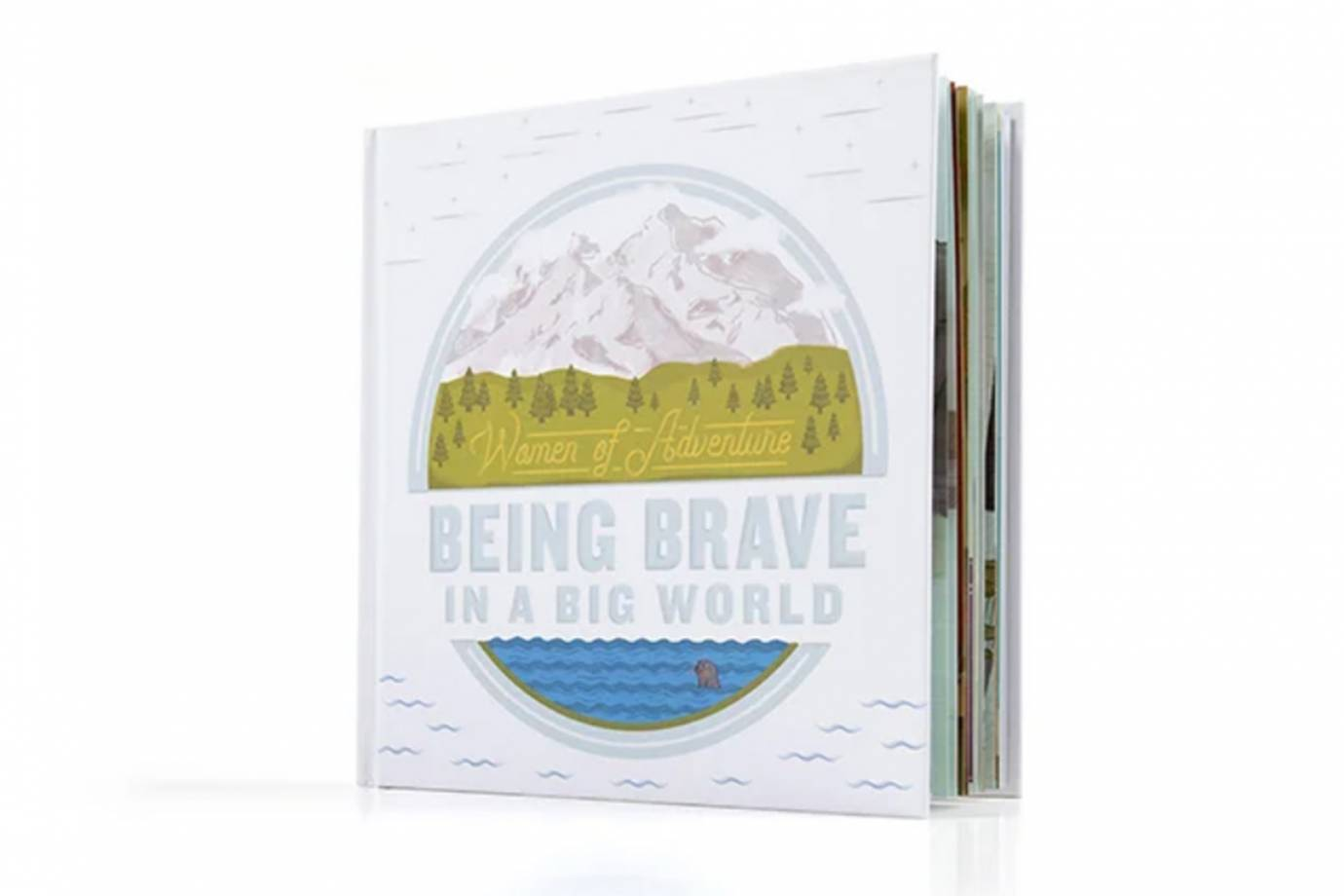 """cover of garmin """"being brave in a big world"""" kids book"""
