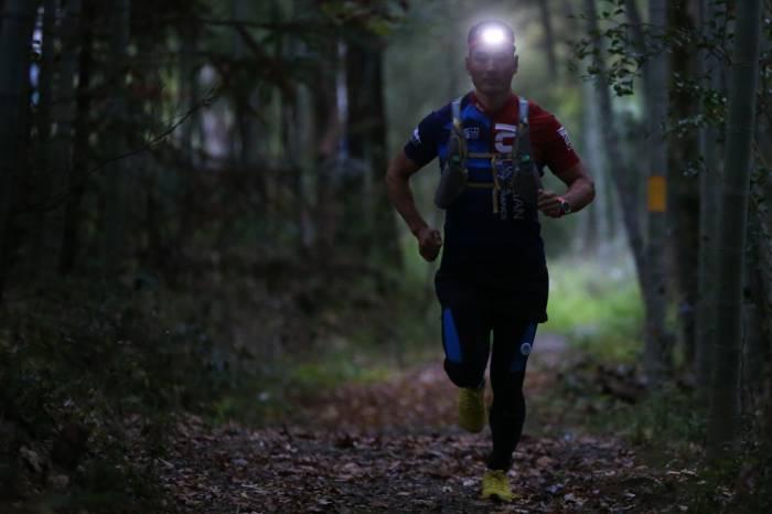 Runner with Fenix HL18R-T