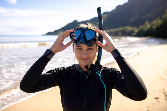 Freediver mask and snorkel
