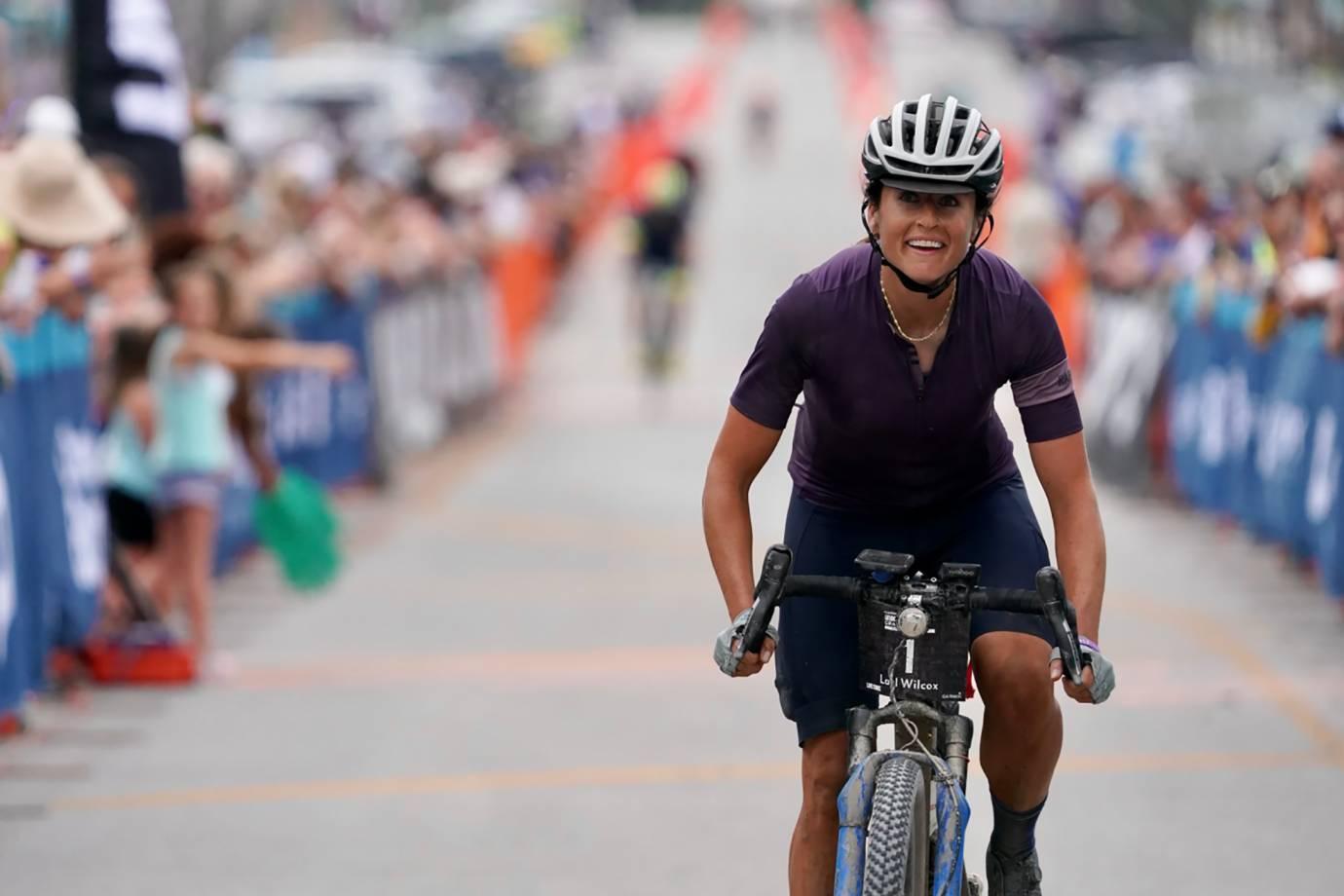 Lael Wilcox wins UNBOUND Gravel 350-mile bike race