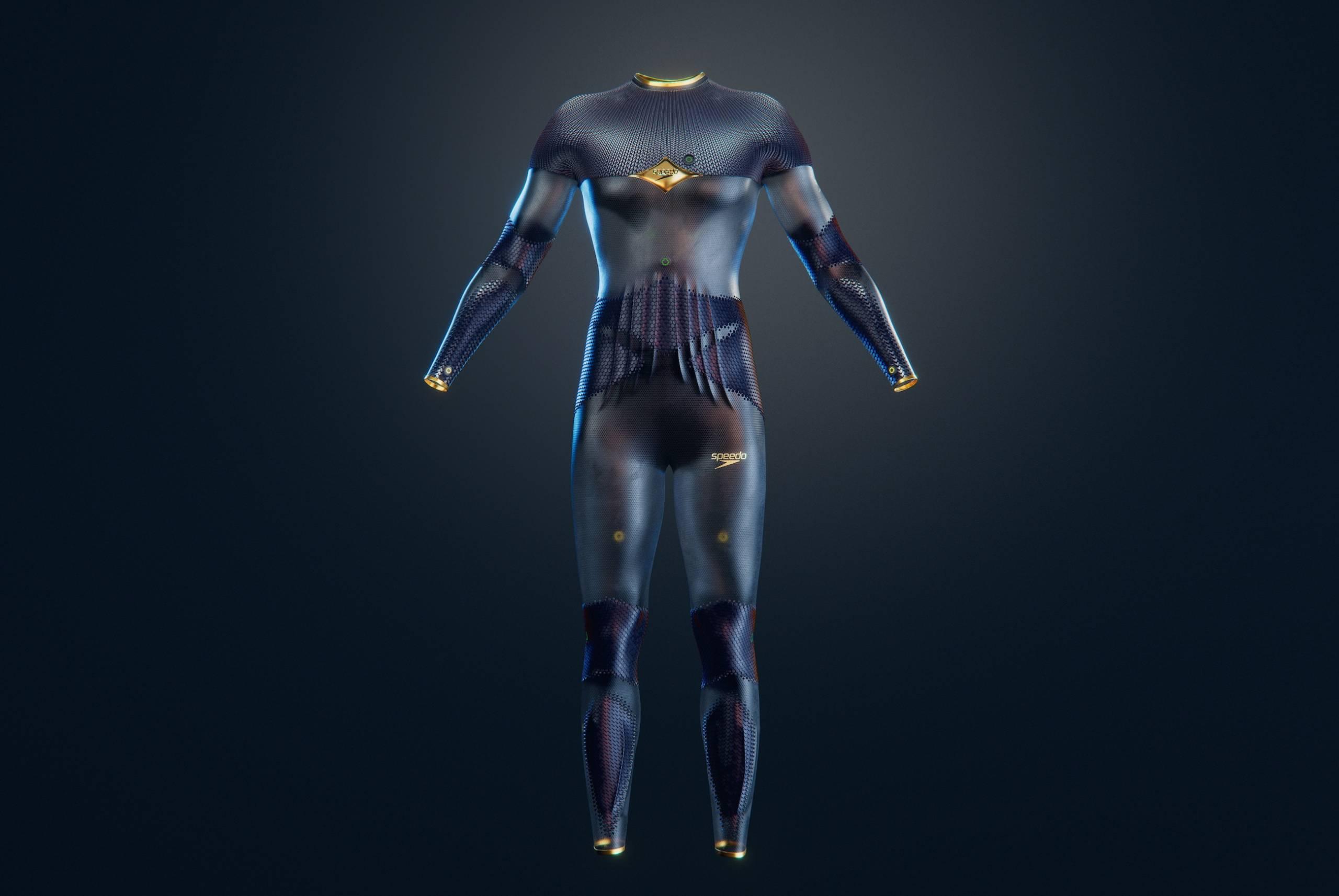 Full body Speedo swimsuit with AI sensors
