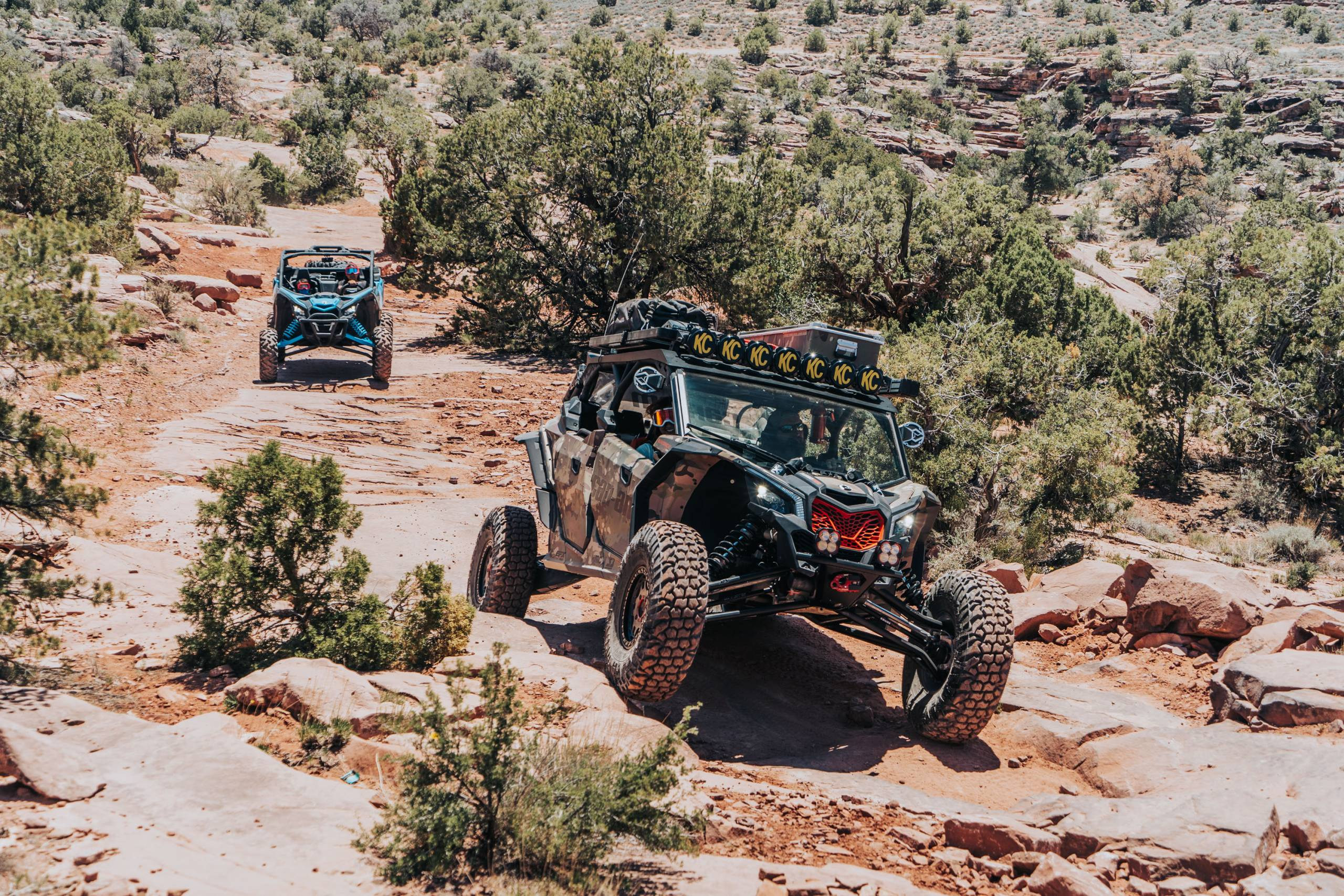 Can-Am vehicles in Moab