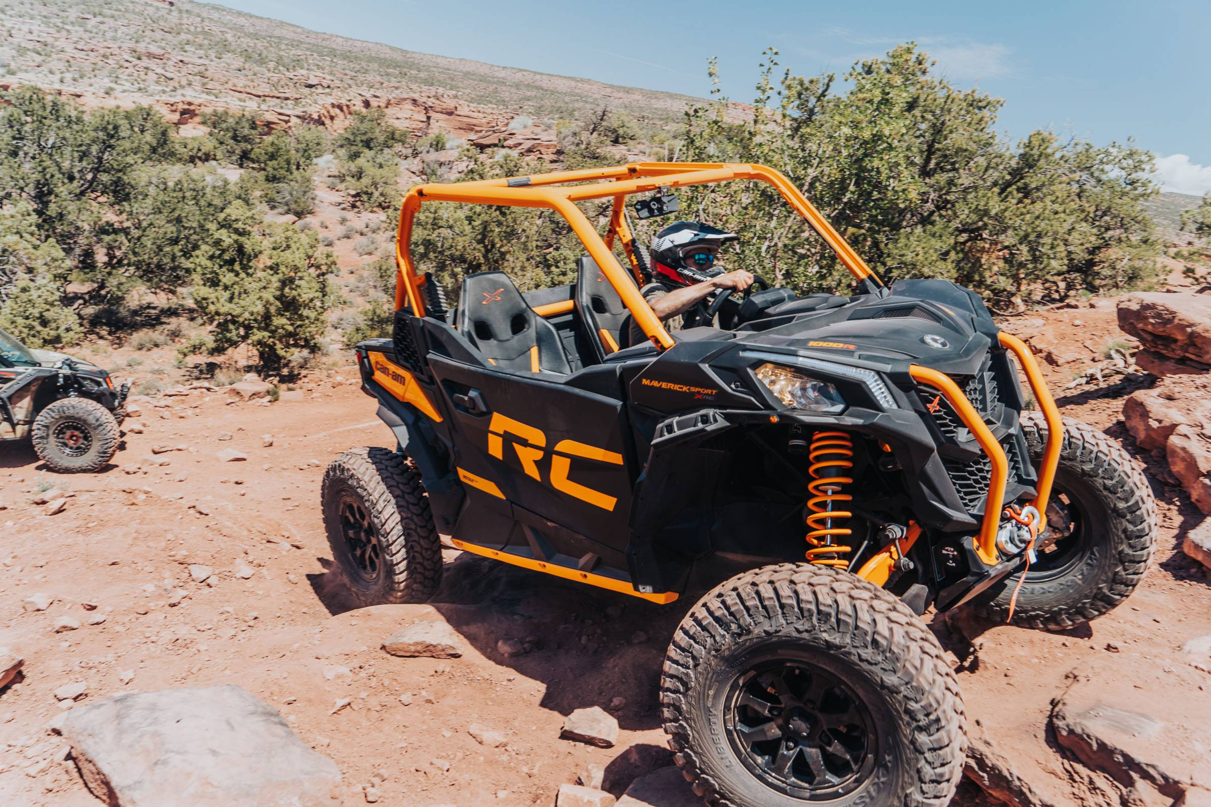 Can-Am UTV driving in Moab