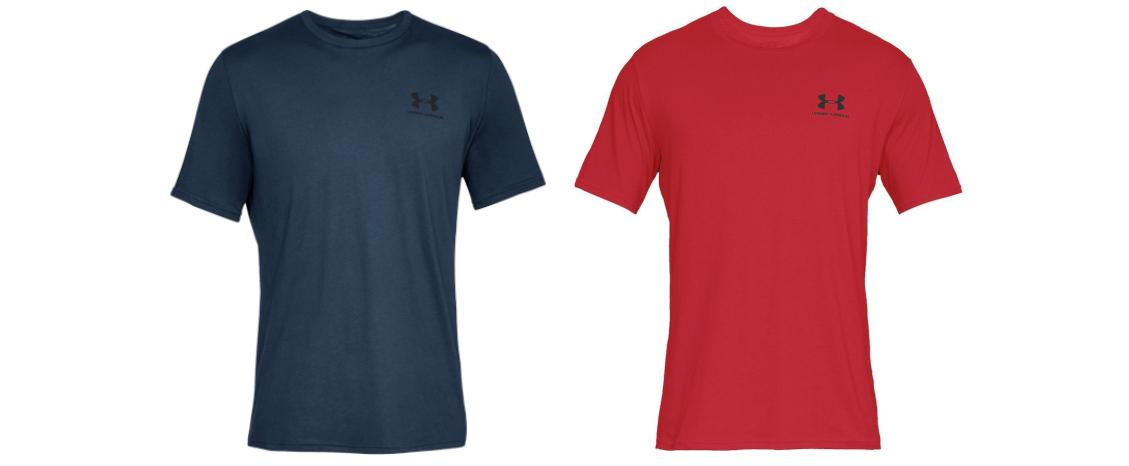 Under Armor Sportstyle short-sleeved shirt on the left chest