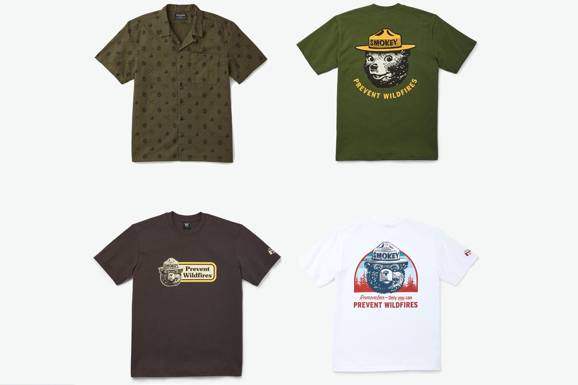 Filson x Smokey the Bear shirts