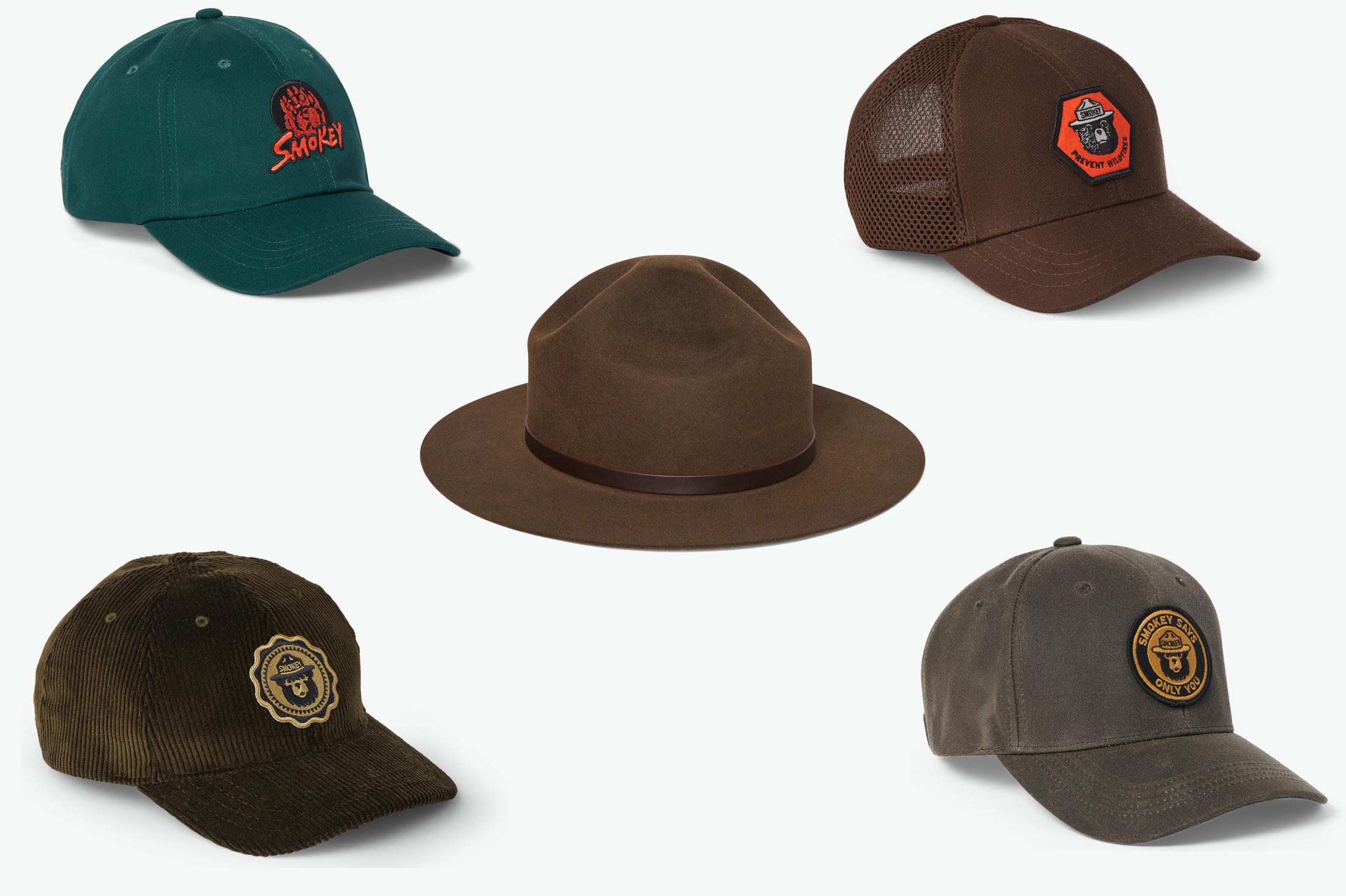 Filson x Smokey the Bear hats