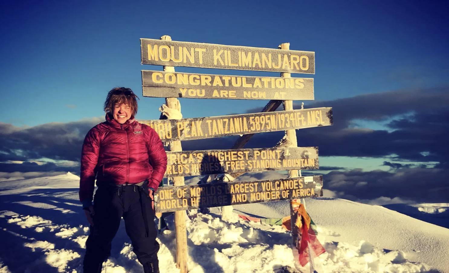 Erin Parisi on Mt. Kilimanjaro
