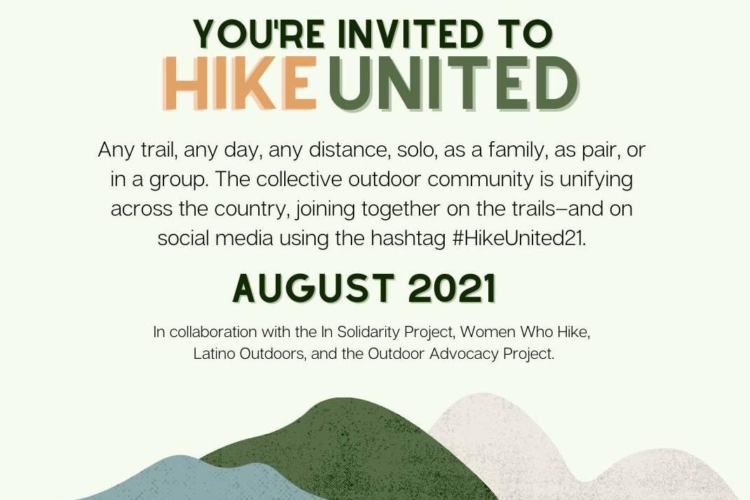 Hike United global hiking campaign info