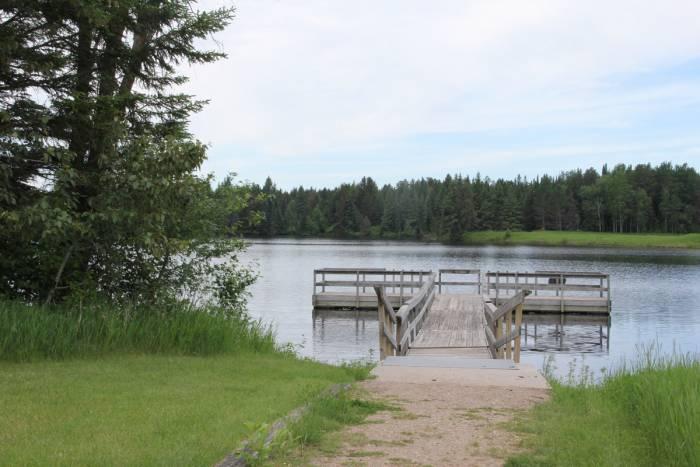 Hayes Lake State Park dock