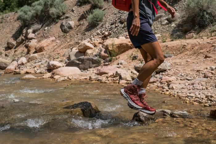 Hoka One One Anacapa crossing stream