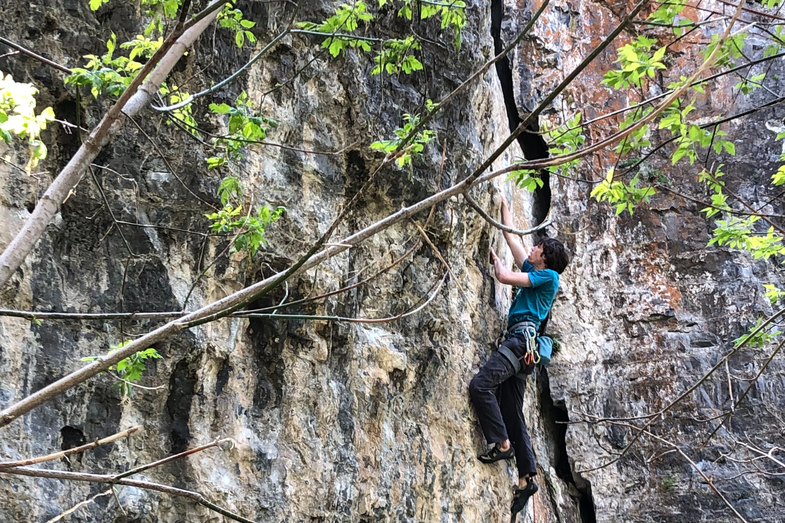 Climbing in American Fork