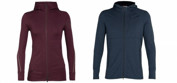 Icebreaker Quantum II long sleeve zip hooded jackets
