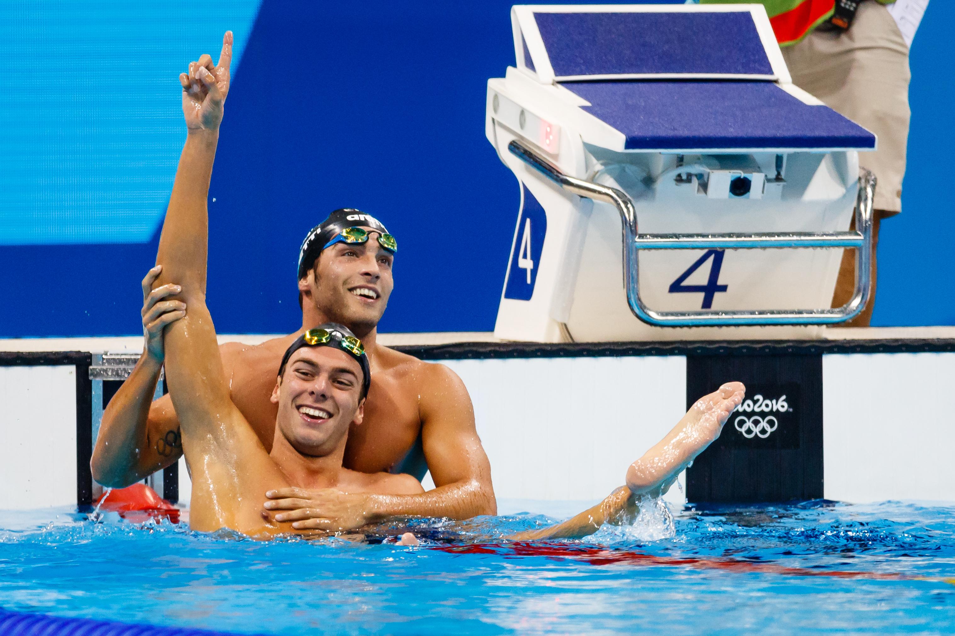 Italian Olympic swimmer Gregorio Paltrinieri